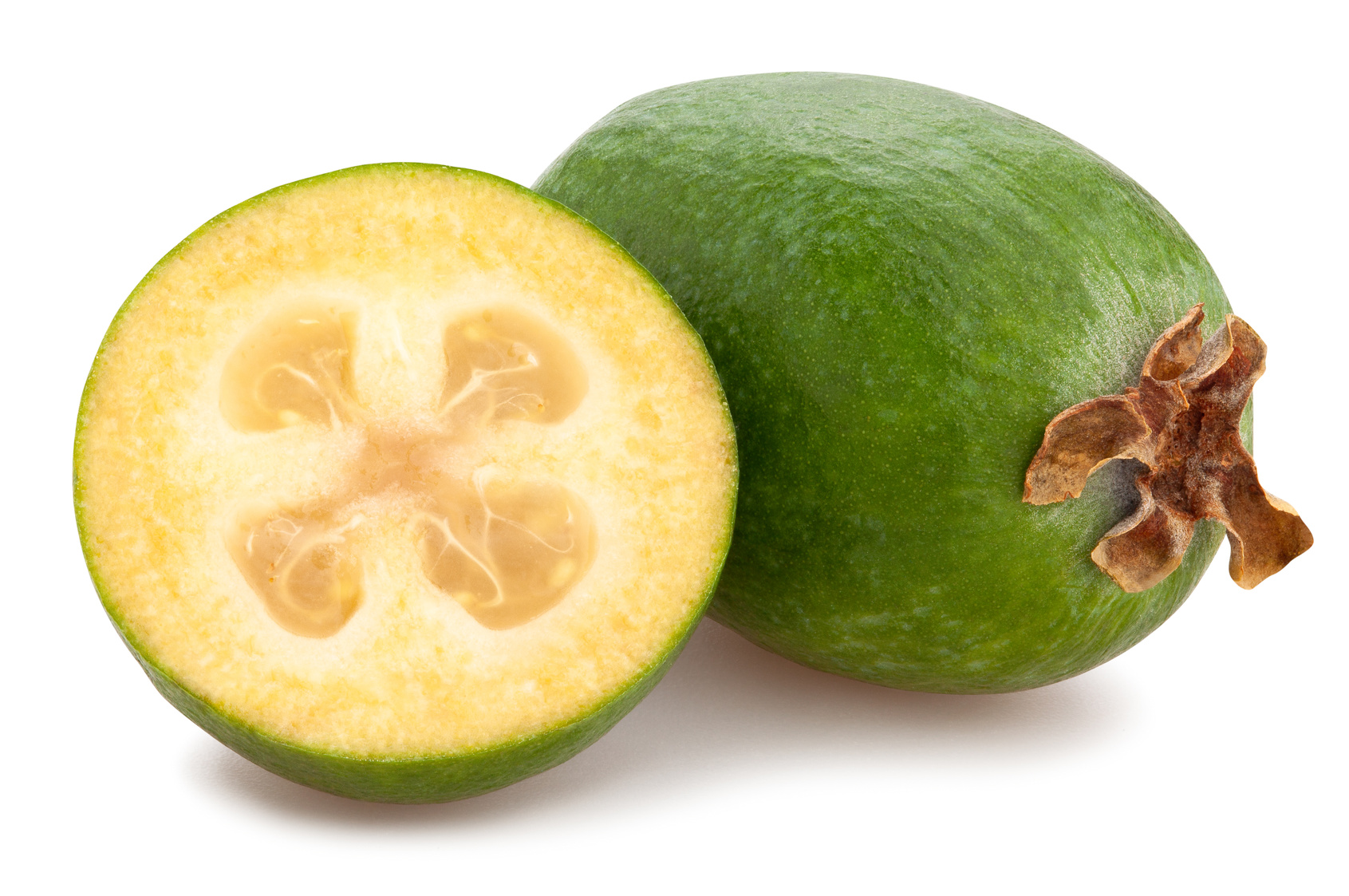 feijoa goyavier du brésil Goyavier de montevideo goyave-ananas fruit nutrition santé