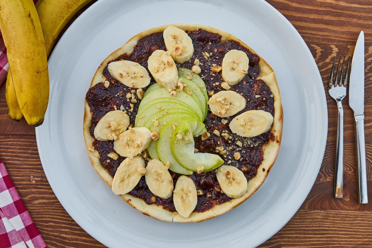Crêpe à la banane et au chocolat
