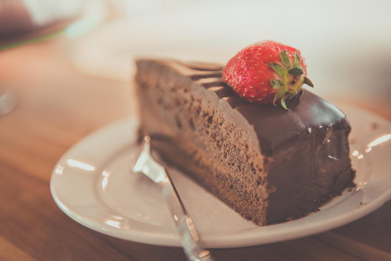 Part de gâteau au chocolat