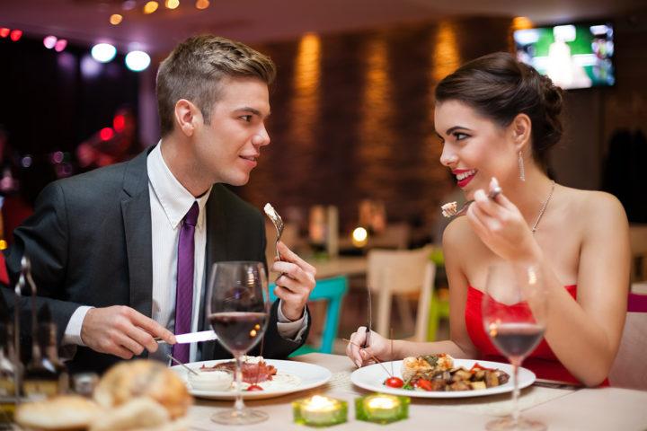 Un bon repas en amoureux