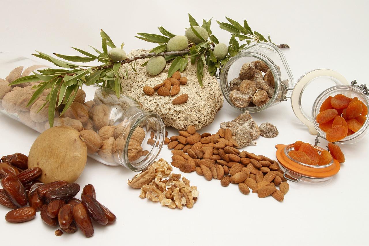 Fruits Secs, contenant de la vitamine B1