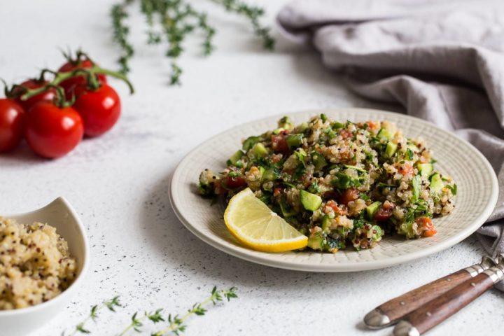 assiette de protéines végétales